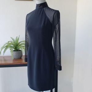 Vintage Oleg Cassini Choker Neck Bodycon Dress